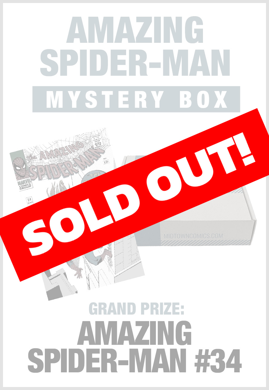 SOLD OUT - Midtown Comics Mystery Box - Spider-Man (Purchase for a chance to win Amazing Spider-Man Vol 4 #800 DF Gold Signature Series Signed By John