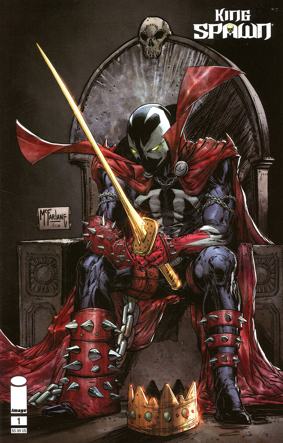 King Spawn #1 Cover B Variant Todd McFarlane Cover