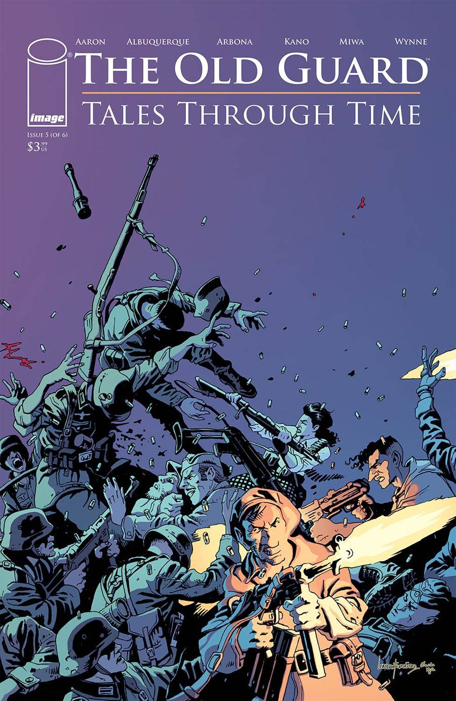 Old Guard Tales Through Time #5 Cover C Variant Leandro Fernandez Interconnecting Battlefield Cover