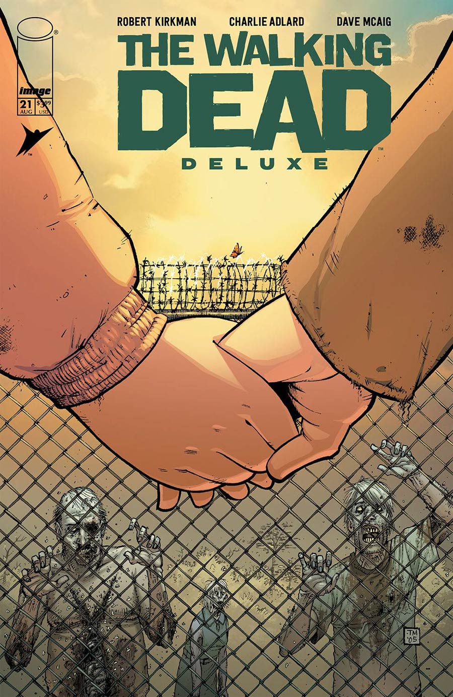 Walking Dead Deluxe #21 Cover B Variant Tony Moore & Dave McCaig Cover