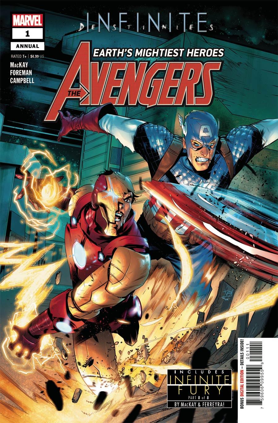 Avengers Vol 7 Annual #1 Cover A Regular Federico Vicentini Cover (Infinite Destinies Tie-In)