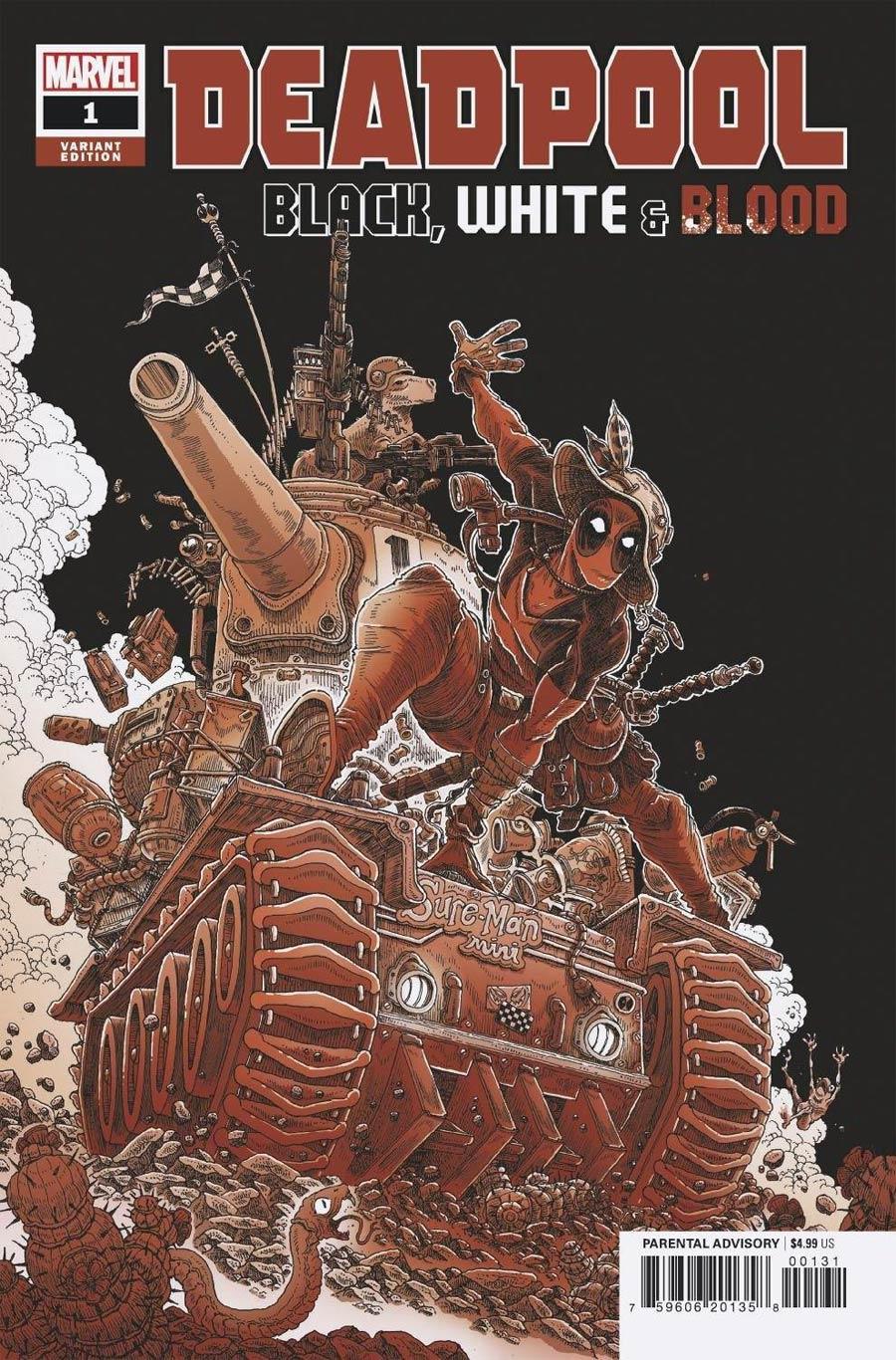 Deadpool Black White & Blood #1 Cover C Variant James Stokoe Cover