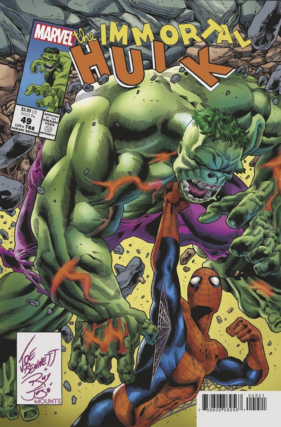 Immortal Hulk #49 Cover C Variant Joe Bennett Homage Cover (Limit 1 Per Customer)