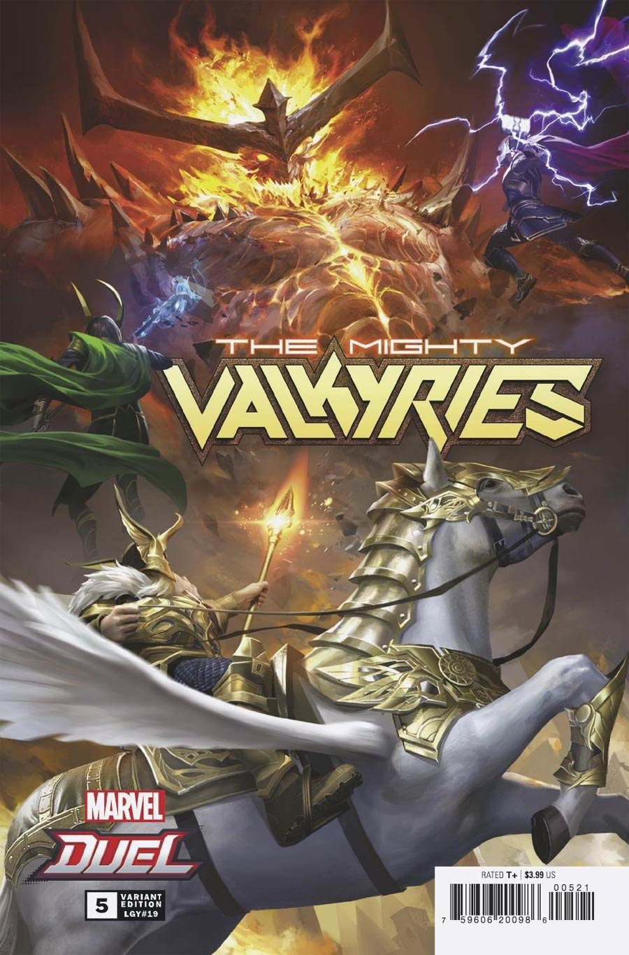 Mighty Valkyries #5 Cover B Variant NetEase Marvel Games Cover