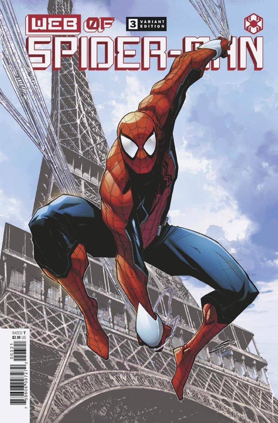 W.E.B. Of Spider-Man #3 Cover B Variant Gerardo Sandoval Cover