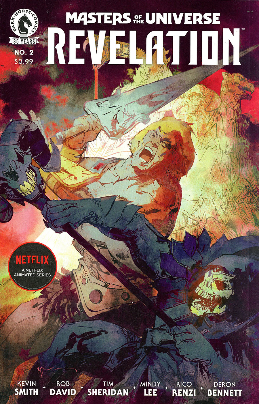 Masters Of The Universe Revelation #2 Cover B Variant Bill Sienkiewicz Cover