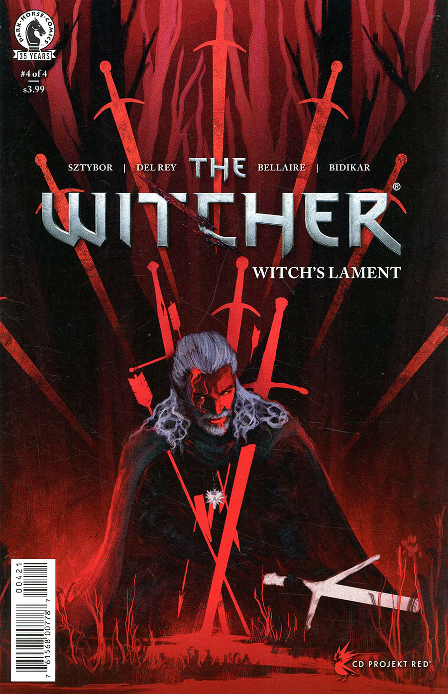 Witcher Witchs Lament #4 Cover B Variant Anato Finnstark Cover