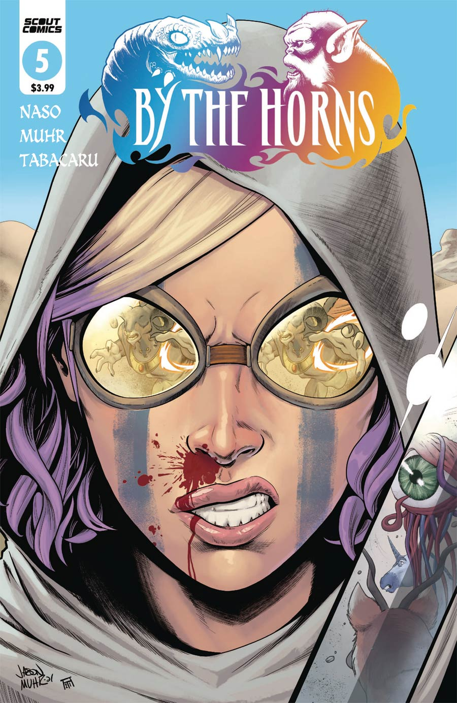 By The Horns #5 Cover A Regular Jason Muhr Cover
