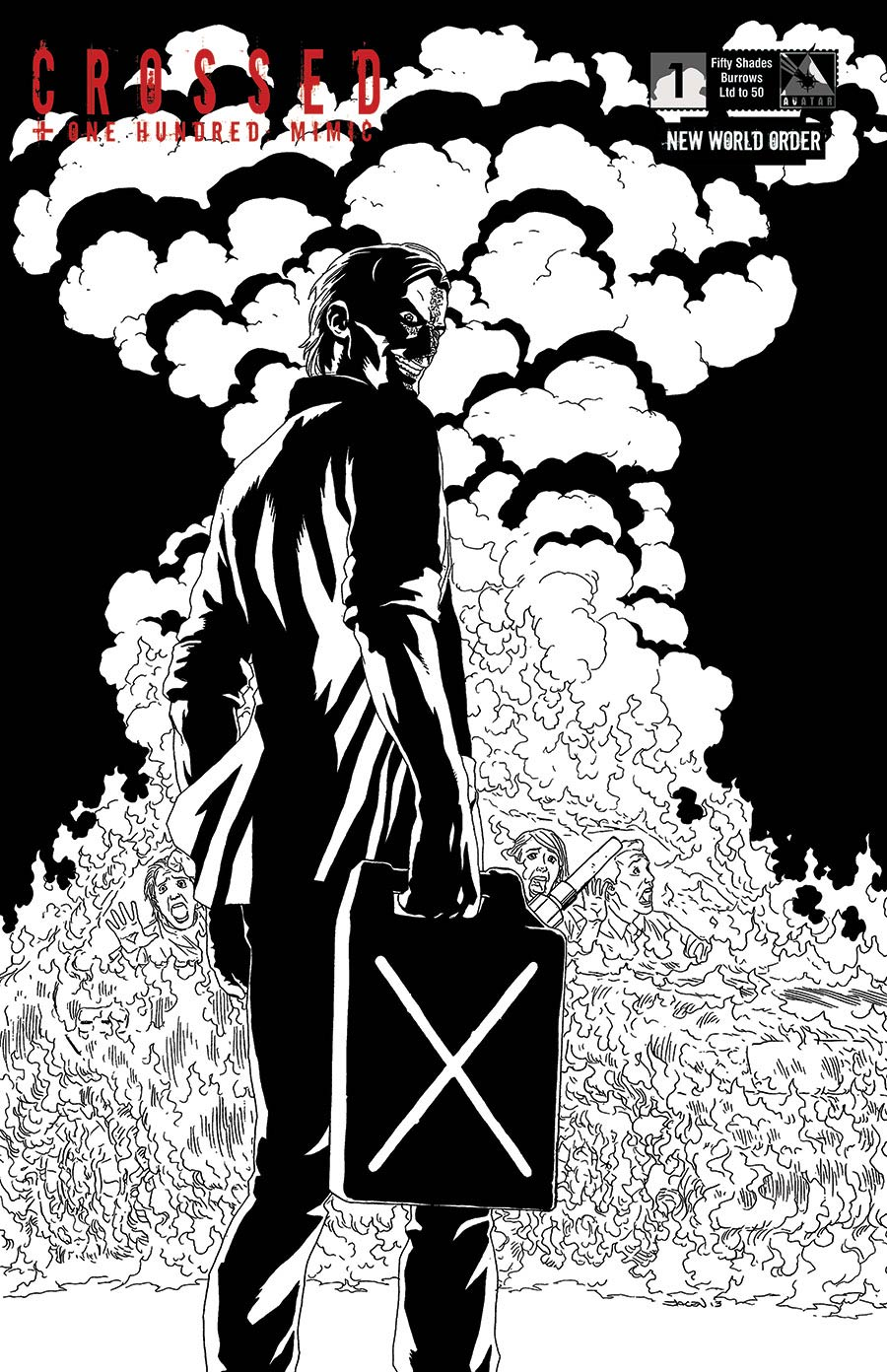 Crossed Plus 100 Mimic #1 Cover R NWO Fifty Shades Jacen Burrows Cover