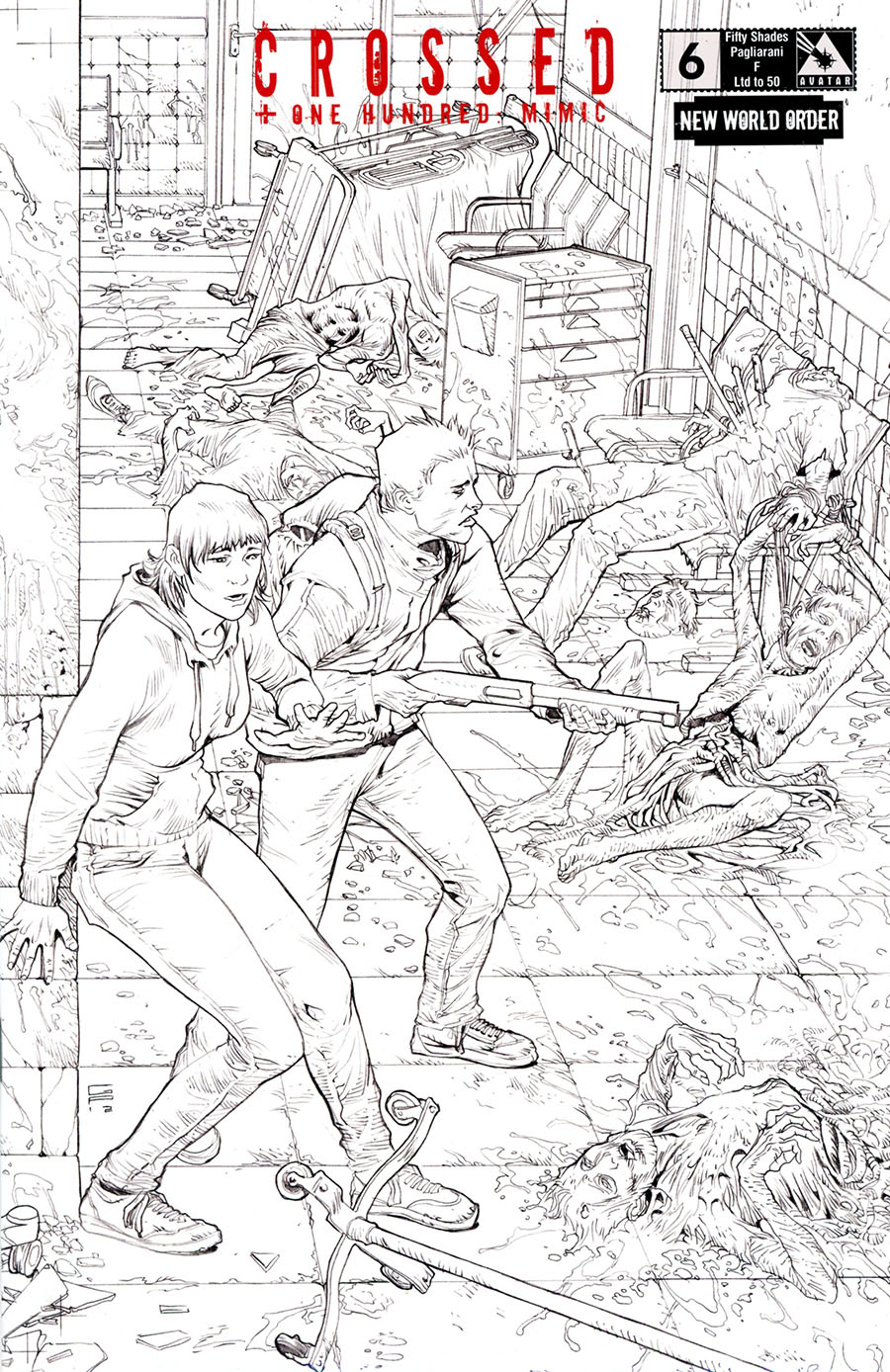 Crossed Plus 100 Mimic #6 Cover N NWO Fifty Shades F Cover