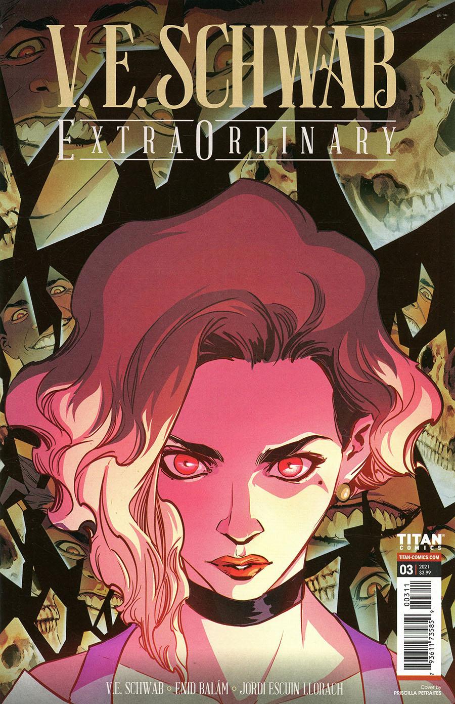 VE Schwabs Extraordinary #3 Cover A Regular Priscilla Petraites Cover