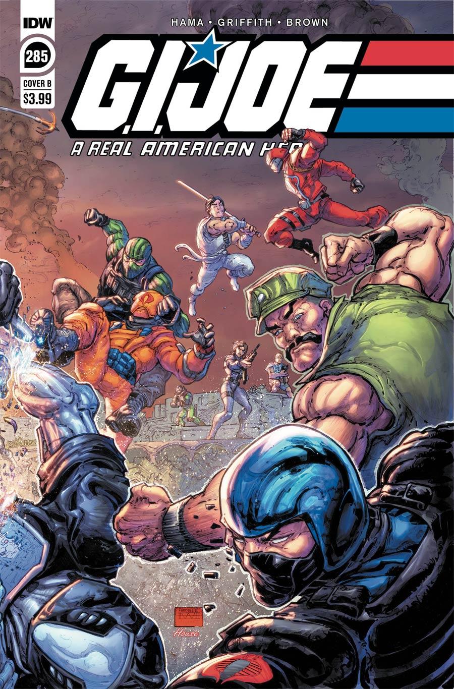GI Joe A Real American Hero #285 Cover B Variant Freddie E Williams II Cover