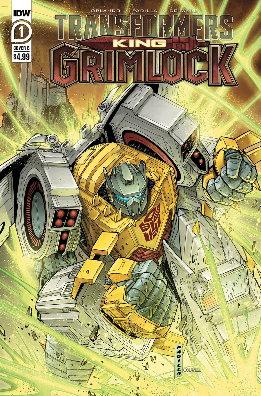Transformers King Grimlock #1 Cover B Variant Agustin Padilla Cover
