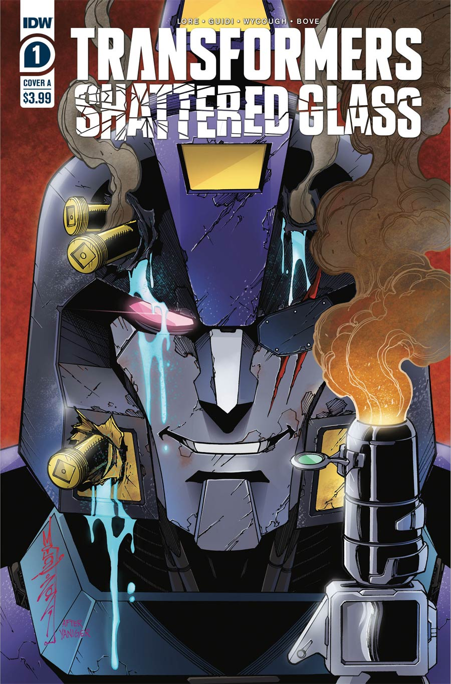 Transformers Shattered Glass #1 Cover A Regular Alex Milne Cover