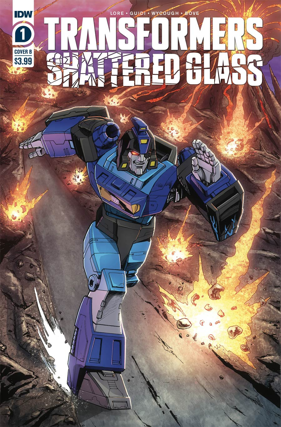 Transformers Shattered Glass #1 Cover B Variant Dan Khanna Cover