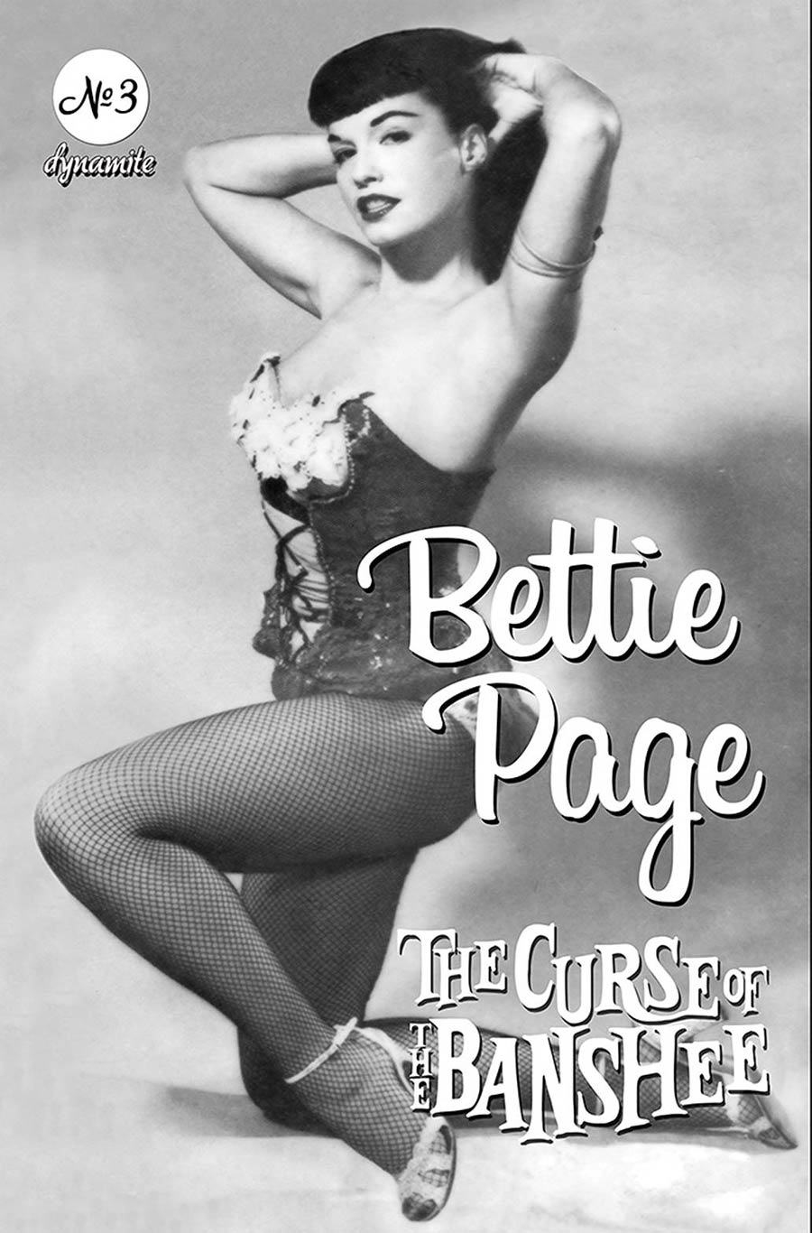 Bettie Page And The Curse Of The Banshee #3 Cover E Variant Bettie Page Vintage Pin-Up Cover