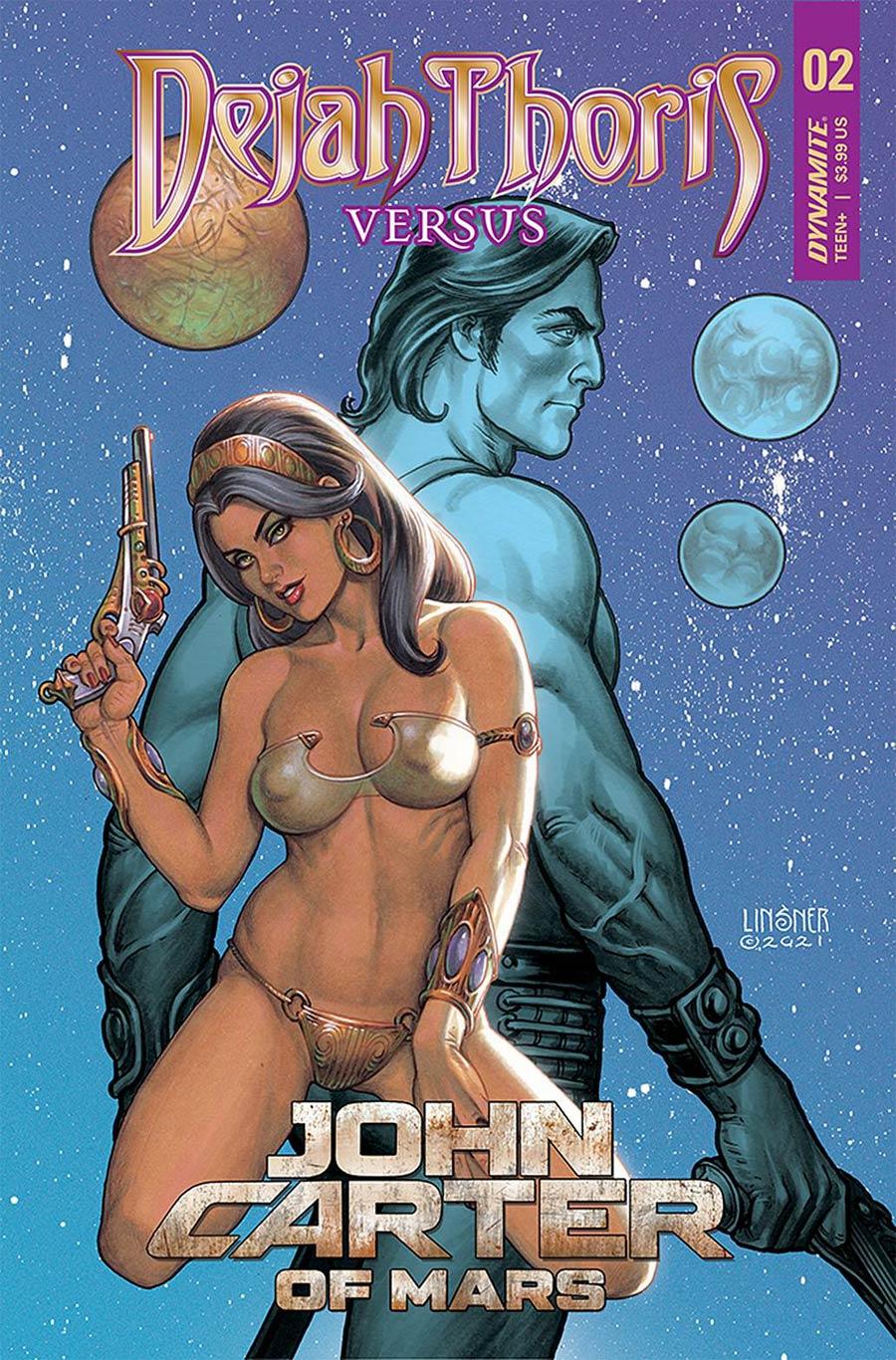 Dejah Thoris Versus John Carter Of Mars #2 Cover B Variant Joseph Michael Linsner Cover