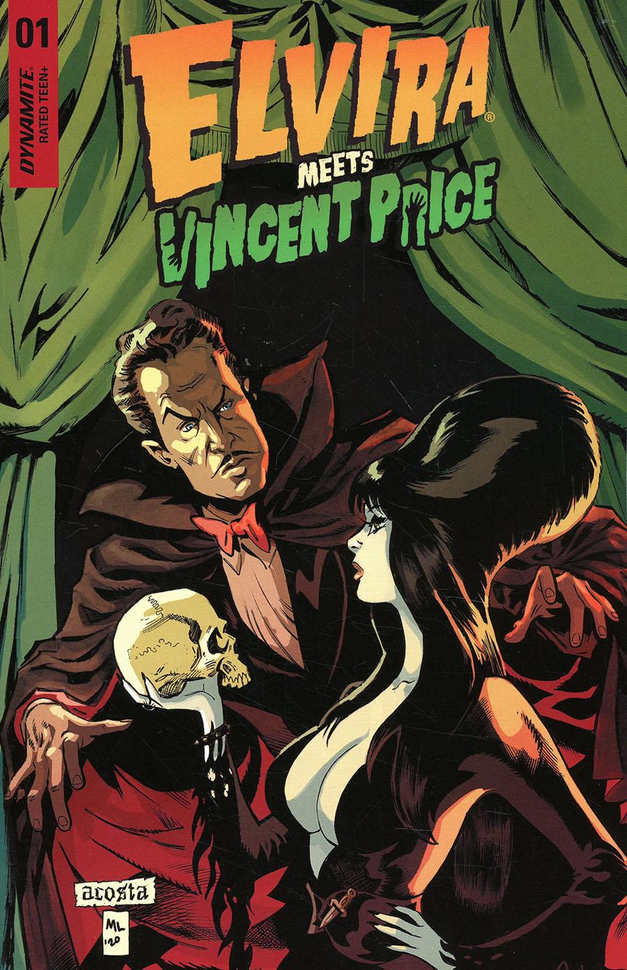Elvira Meets Vincent Price #1 Cover A Regular Dave Acosta Cover