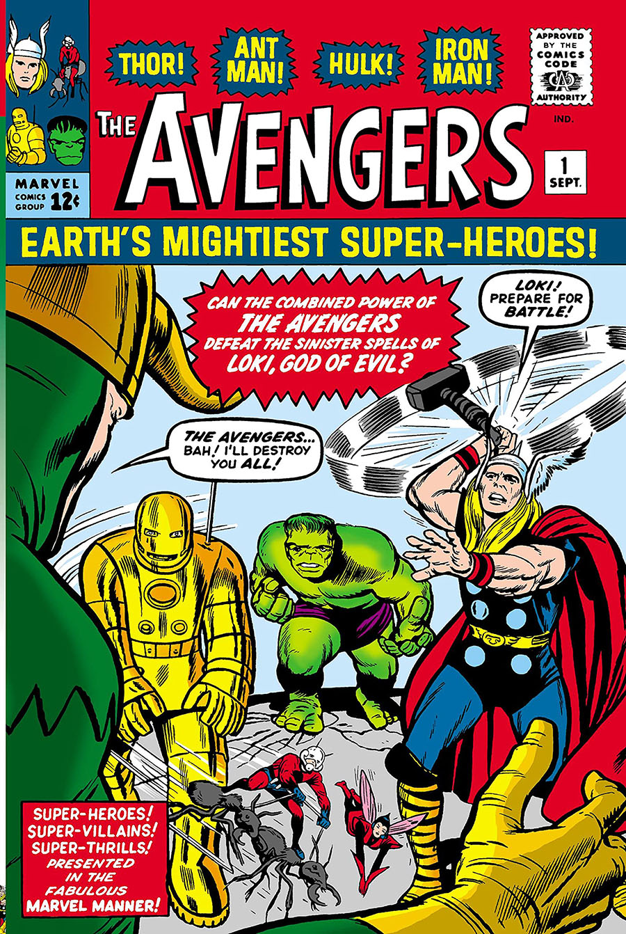 Mighty Marvel Masterworks Avengers Vol 1 Coming Of The Avengers GN Direct Market Jack Kirby Variant Cover