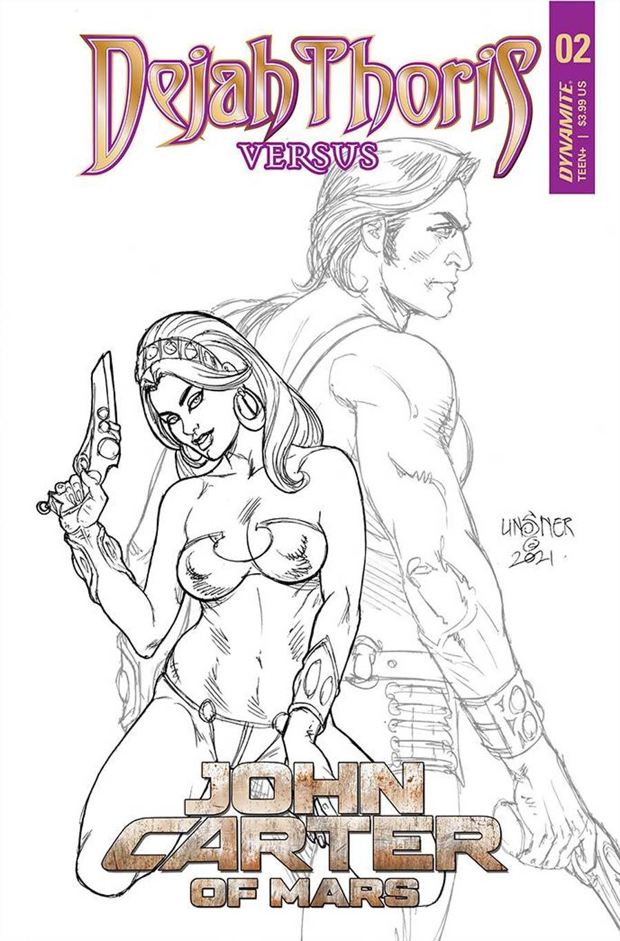 Dejah Thoris Versus John Carter Of Mars #2 Cover E Incentive Joseph Michael Linsner Pencils Cover