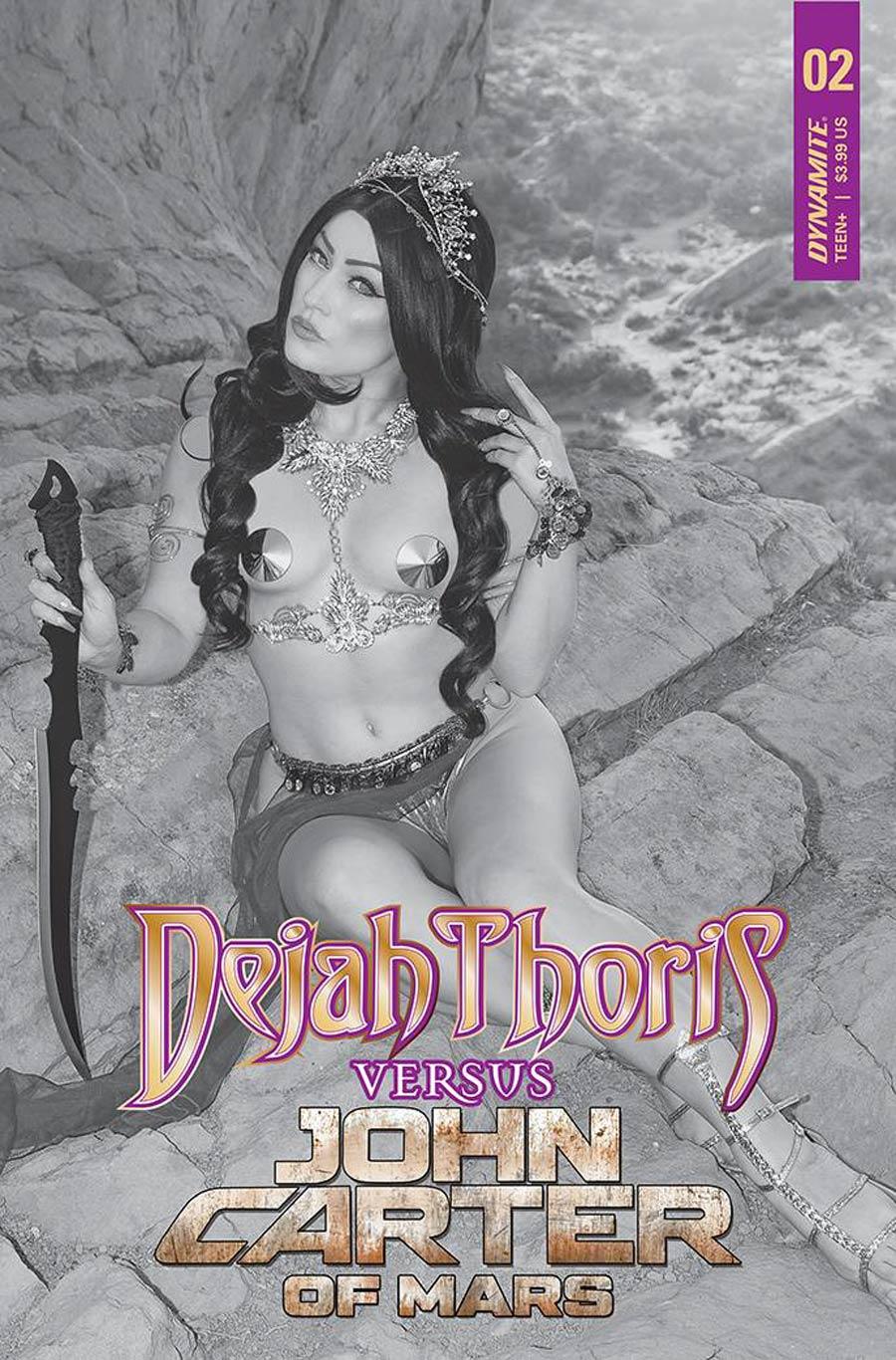 Dejah Thoris Versus John Carter Of Mars #2 Cover H Incentive Rachel Hollon Cosplay Photo Black & White Cover