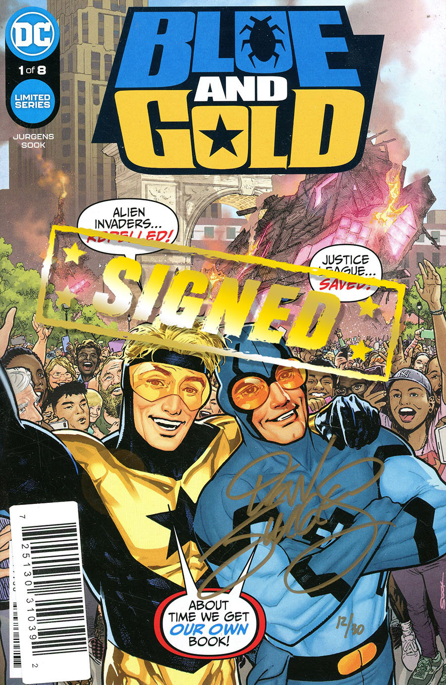 Blue & Gold #1 Cover D DF Gold Signature Series Signed By Dan Jurgens