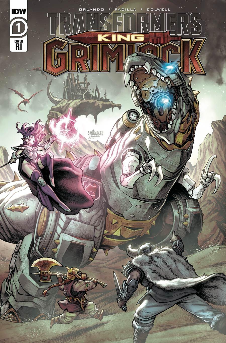 Transformers King Grimlock #1 Cover C Incentive Mateus Santolouco Variant Cover