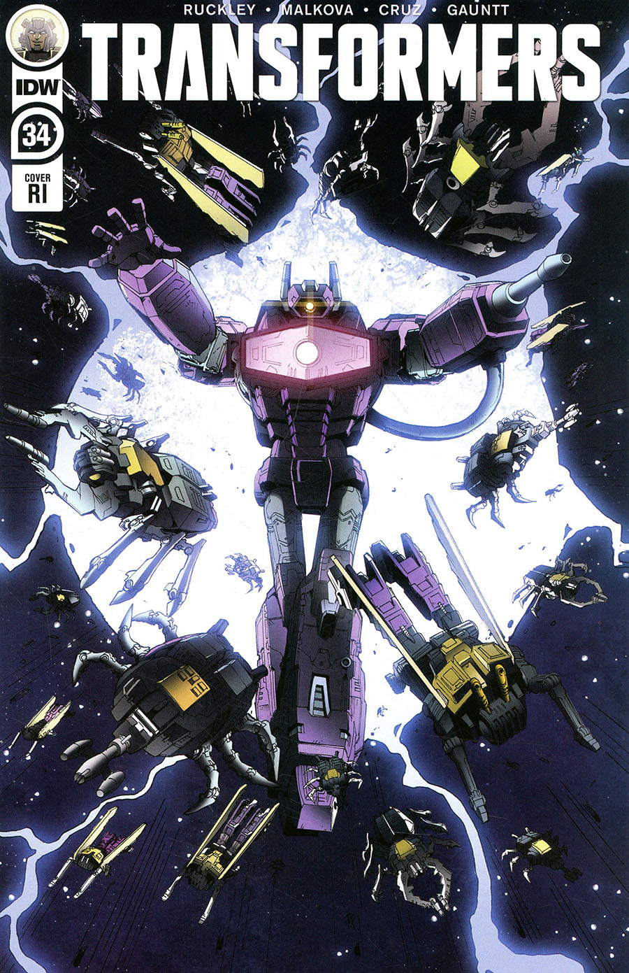Transformers Vol 4 #34 Cover C Incentive Andrew Griffith Variant Cover