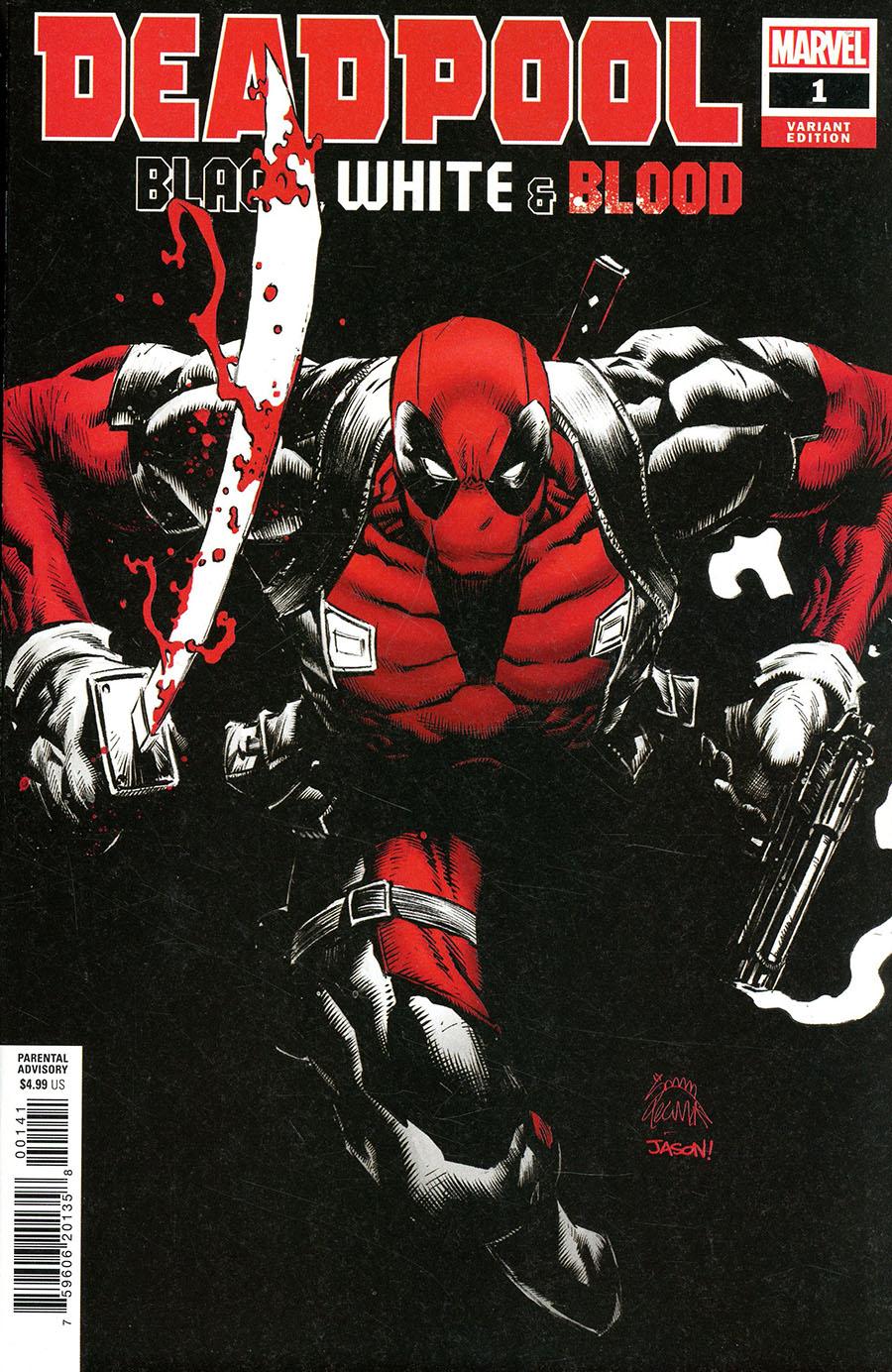 Deadpool Black White & Blood #1 Cover D Incentive Ryan Stegman Variant Cover