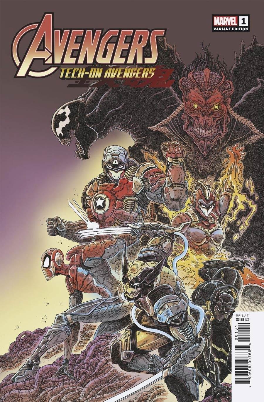 Avengers Tech-On Avengers #1 Cover E Incentive James Stokoe Variant Cover