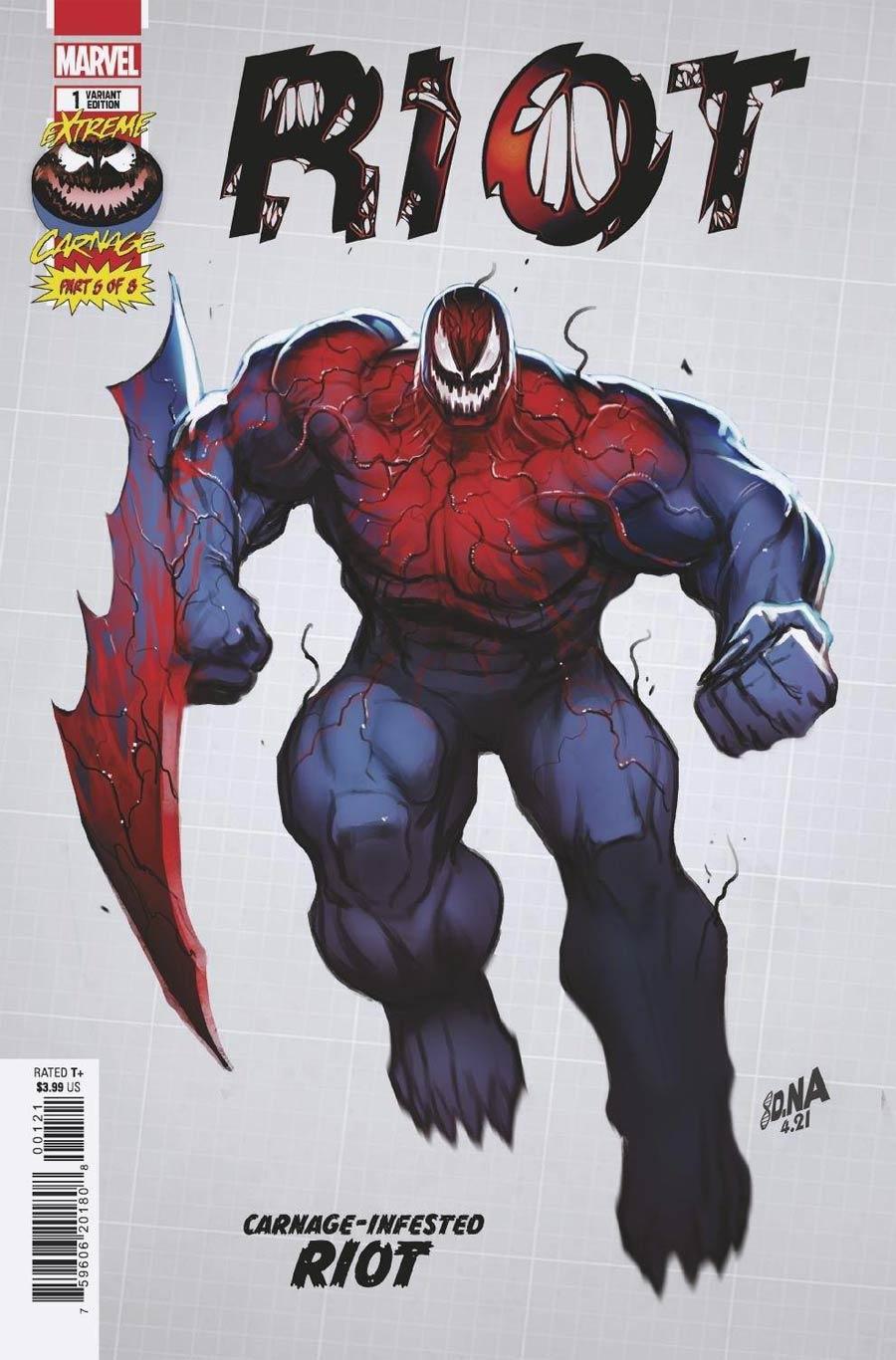 Extreme Carnage Riot #1 (One Shot) Cover D Incentive David Nakayama Design Variant Cover