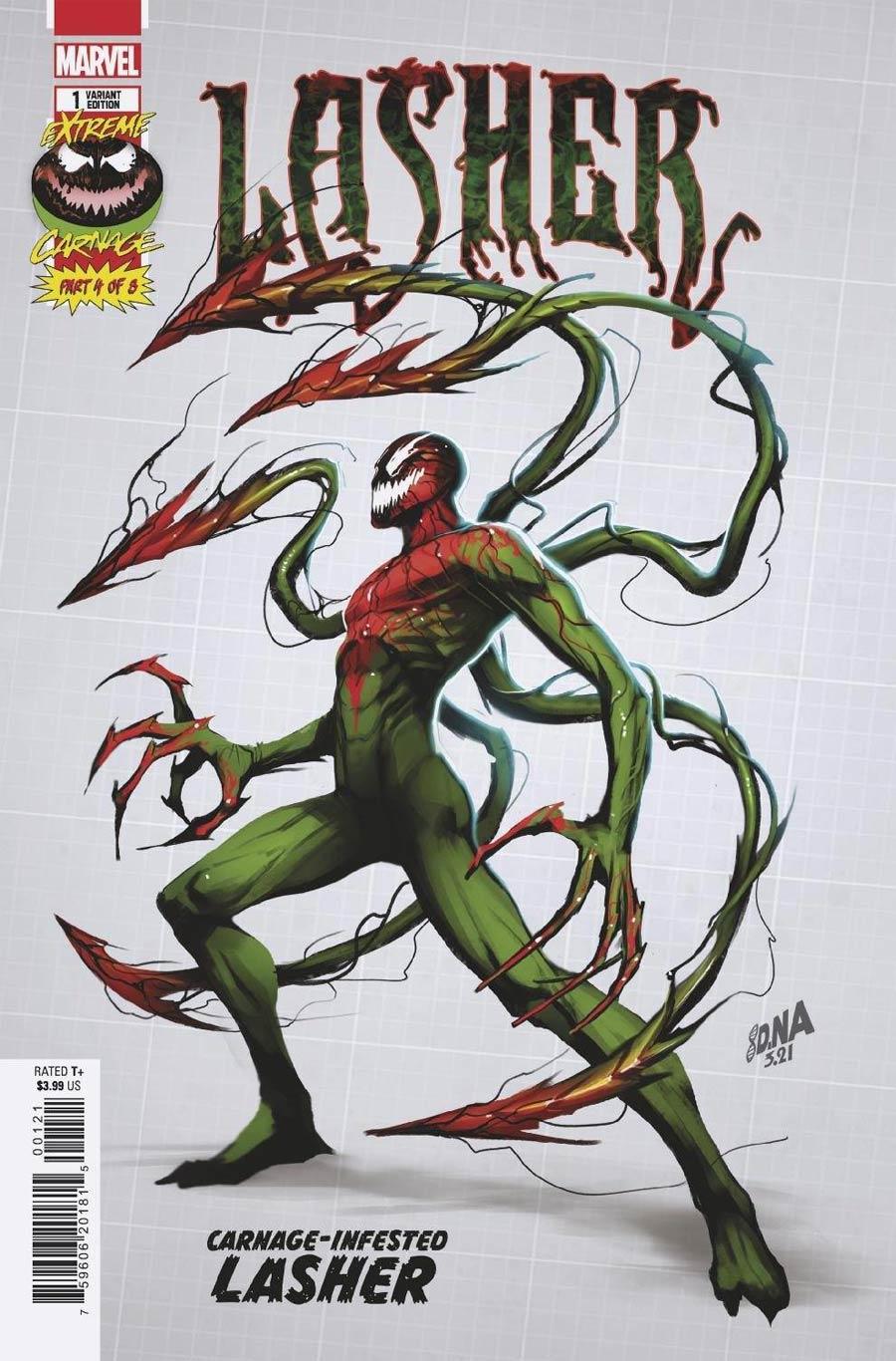 Extreme Carnage Lasher #1 (One Shot) Cover D Incentive David Nakayama Design Variant Cover