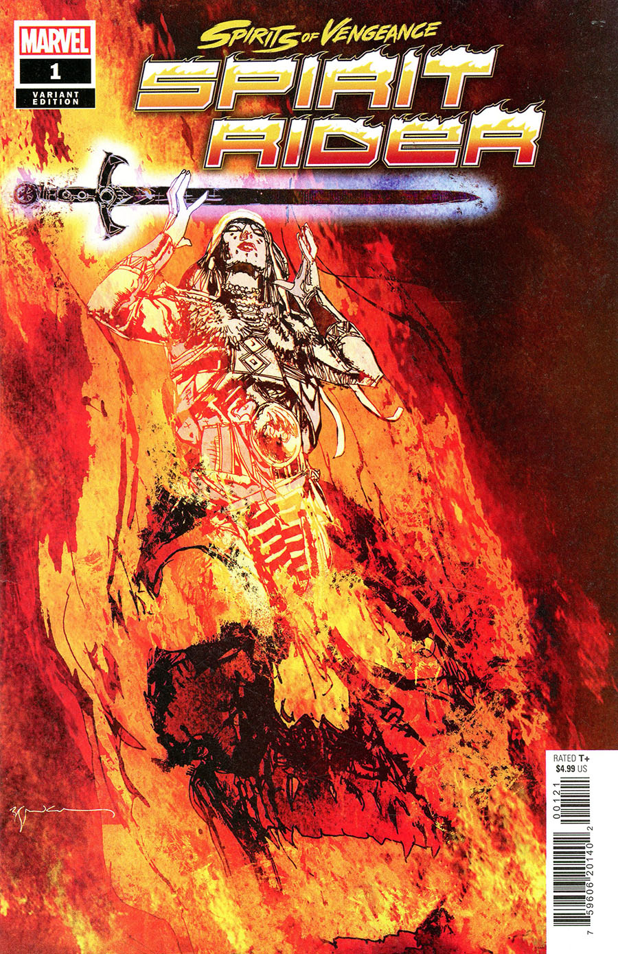 Spirits Of Vengeance Spirit Rider #1 (One Shot) Cover C Incentive Bill Sienkiewicz Variant Cover