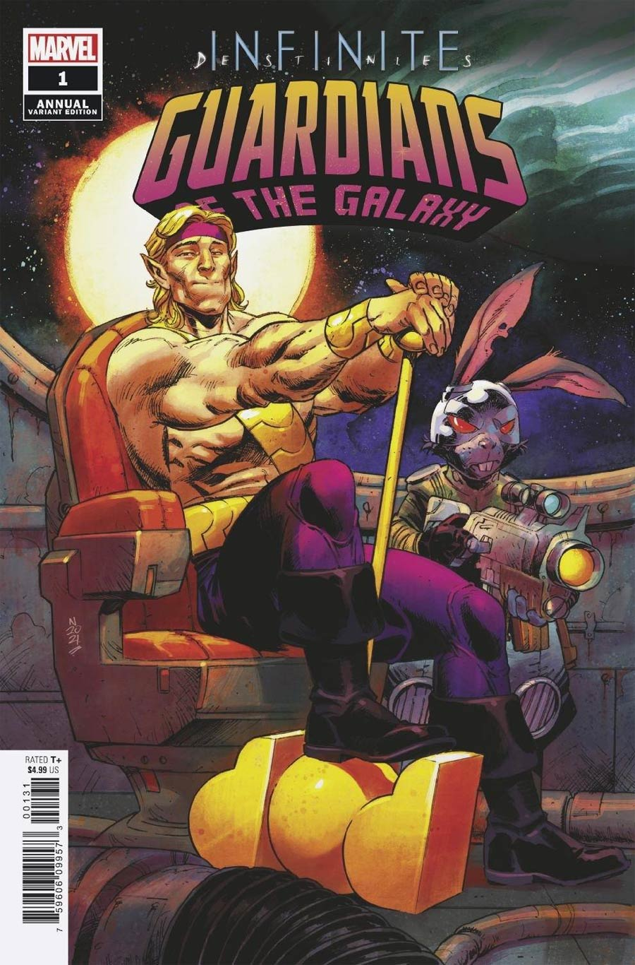 Guardians Of The Galaxy Vol 6 Annual #1 Cover C Incentive Nic Klein Variant Cover (Infinite Destinies Tie-In)