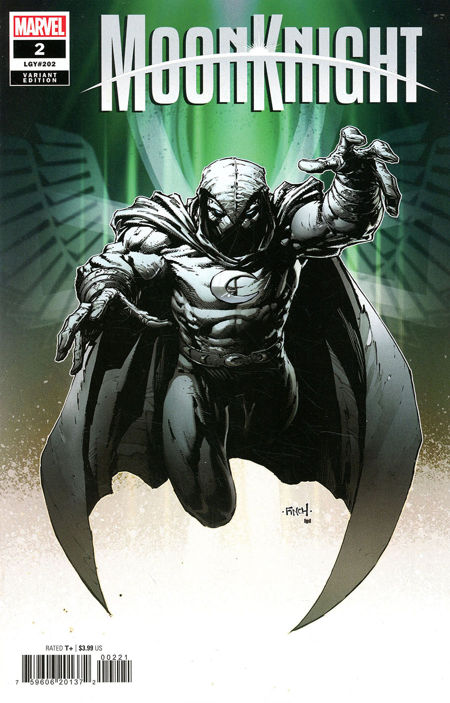 Moon Knight Vol 9 #2 Cover D Incentive David Finch Variant Cover