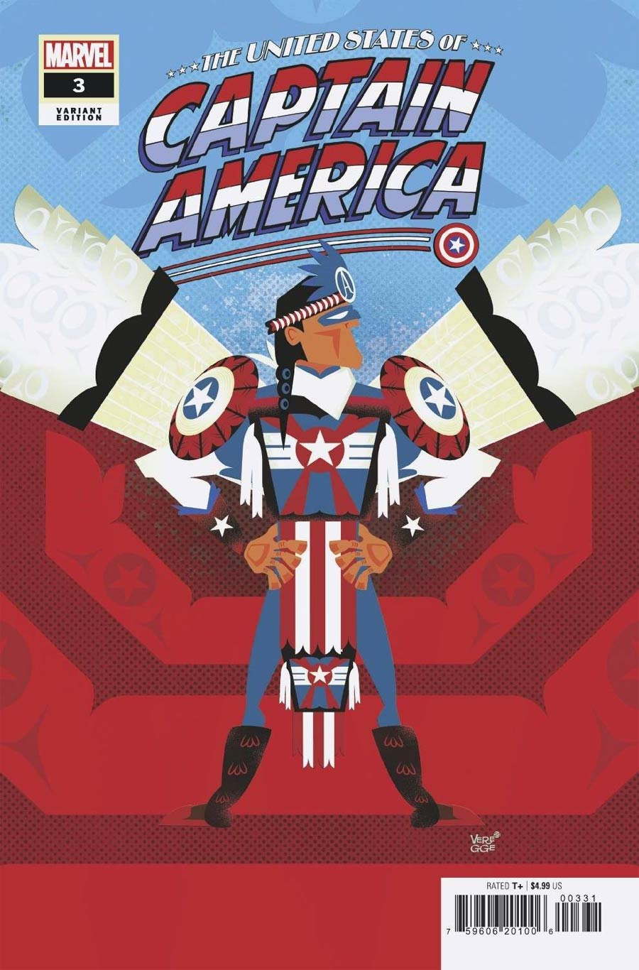 United States Of Captain America #3 Cover C Incentive Jeffrey Veregge Variant Cover