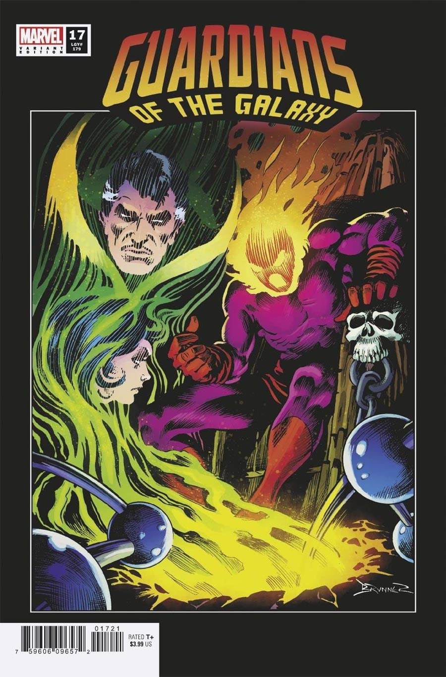 Guardians Of The Galaxy Vol 6 #17 Cover C Incentive Frank Brunner Hidden Gem Variant Cover (Last Annihilation Tie-In)