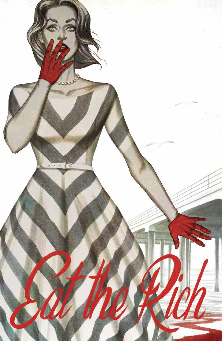 Eat The Rich #1 Cover E Incentive Jenny Frison Minimal Trade Dress Variant Cover