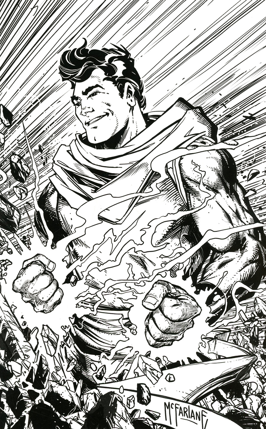 Fire Power By Kirkman & Samnee #12 Cover O Incentive Todd McFarlane Black & White Cover