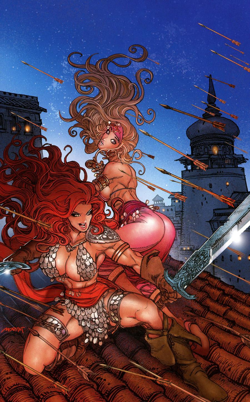 Invincible Red Sonja #2 Cover M Incentive Moritat Virgin Cover