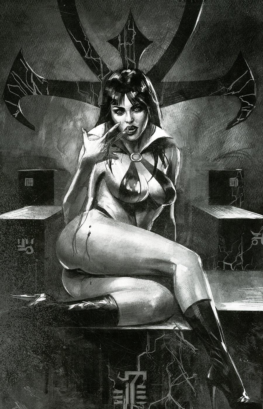 Vampirella Vol 8 #20 Cover H Incentive Marco Mastrazzo Black & White Virgin Cover