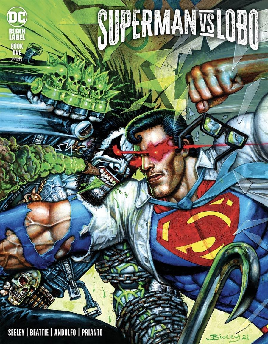 Superman vs Lobo #1 Cover B Variant Simon Bisley Cover