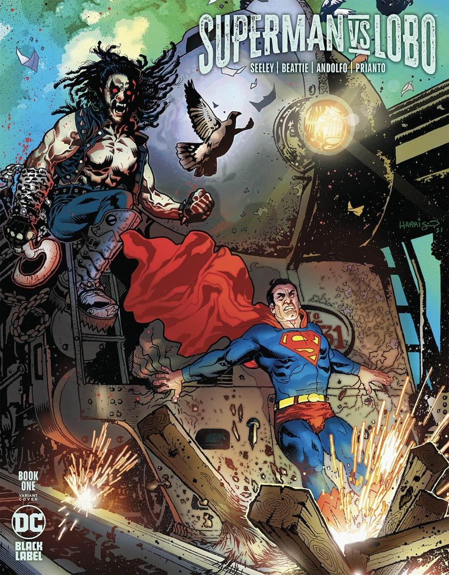 Superman vs Lobo #1 Cover C Variant Tony Harris Cover