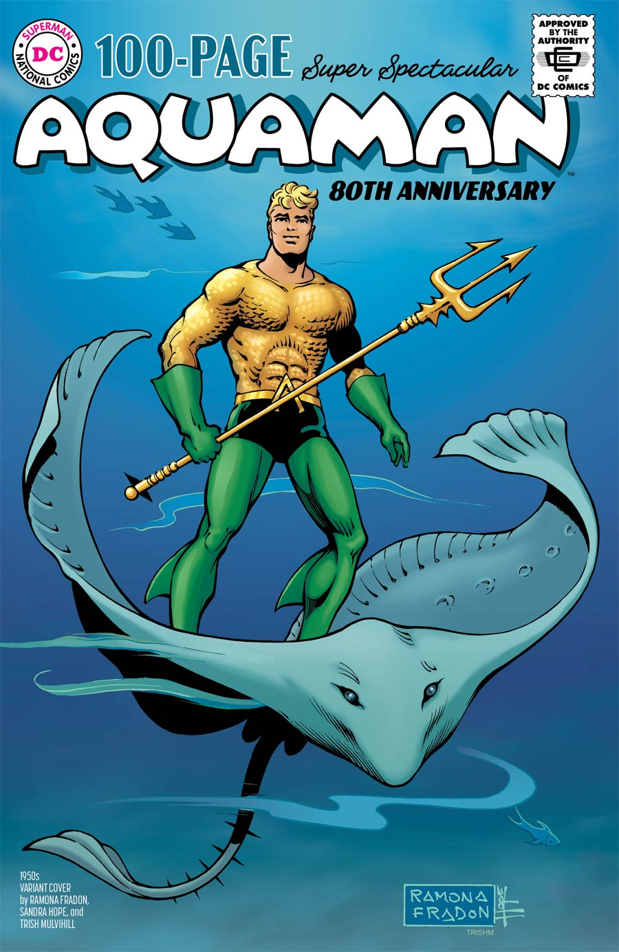 Aquaman 80th Anniversary 100-Page Super Spectacular #1 (One Shot) Cover C Variant Ramona Fradon & Sandra Hope 1950s Cover