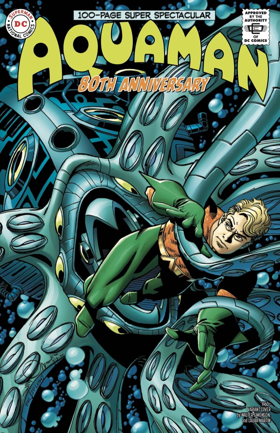 Aquaman 80th Anniversary 100-Page Super Spectacular #1 (One Shot) Cover D Variant Walter Simonson 1960s Cover