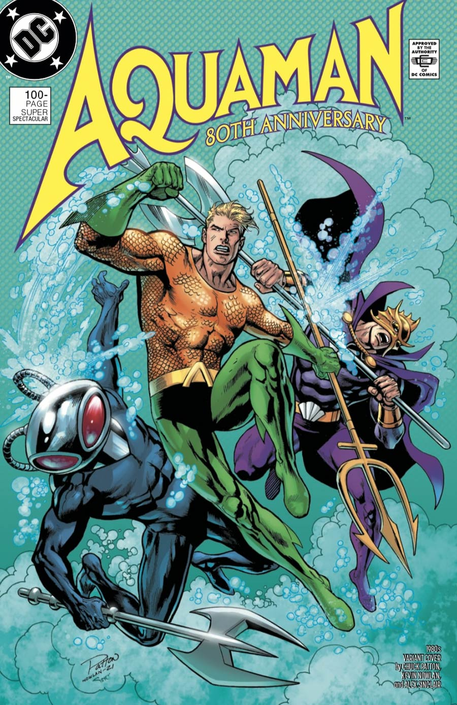 Aquaman 80th Anniversary 100-Page Super Spectacular #1 (One Shot) Cover F Variant Chuck Patton & Kevin Nowlan 1980s Cover
