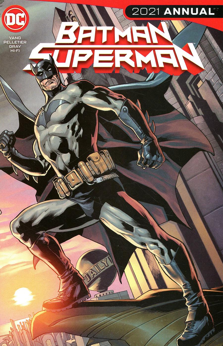 Batman Superman Vol 2 2021 Annual #1 Cover A Regular Bryan Hitch Connected Flip Cover