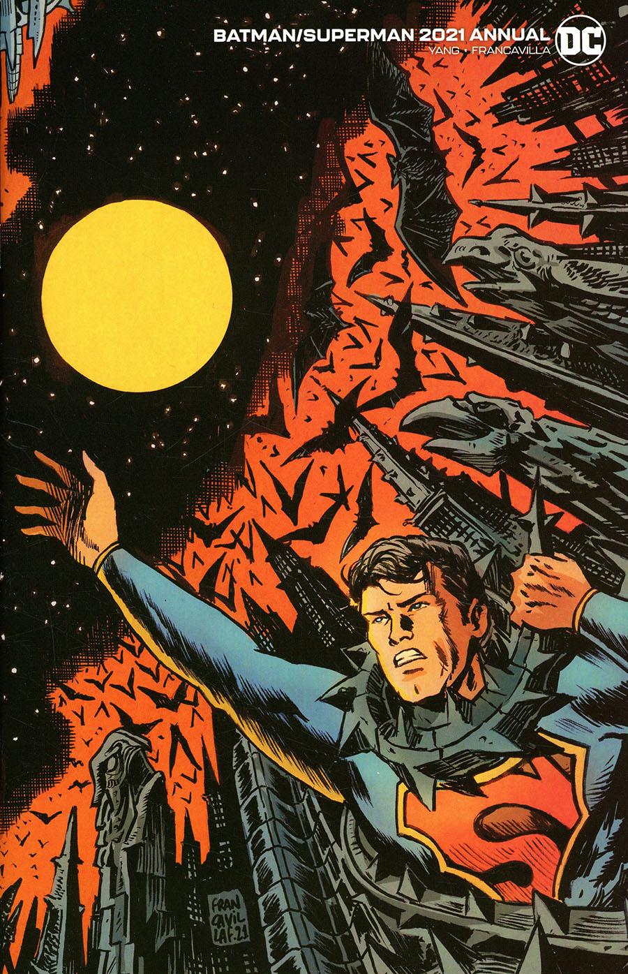 Batman Superman Vol 2 2021 Annual #1 Cover B Variant Francesco Francavilla Connected Flip Card Stock Cover