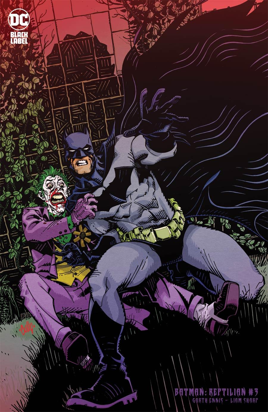 Batman Reptilian #3 Cover B Variant Cully Hamner Cover
