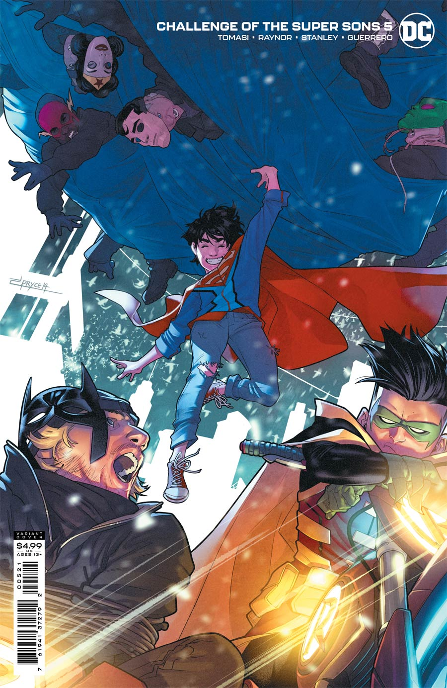 Challenge Of The Super Sons #5 Cover B Variant Jamal Campbell Card Stock Cover